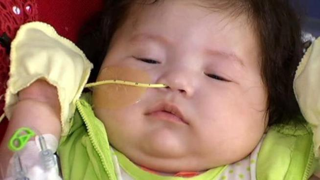A 5-month-old Daniela Soto, who received a heart transplant in February, has been released from the hospital.