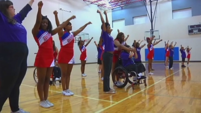 A group of Duncanville High School girls are shattering all stereotypes about Texas cheerleaders with the Sparklers, a cheer squad made up of special needs students.