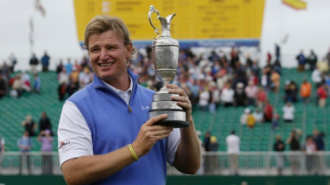 Ernie Els Wins British Open After Scott's Late Round Falter