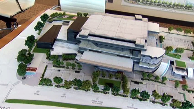 Voters have approved the building of the Irving Entertainment Center, but original plans to finance the city's share face legal challenges.