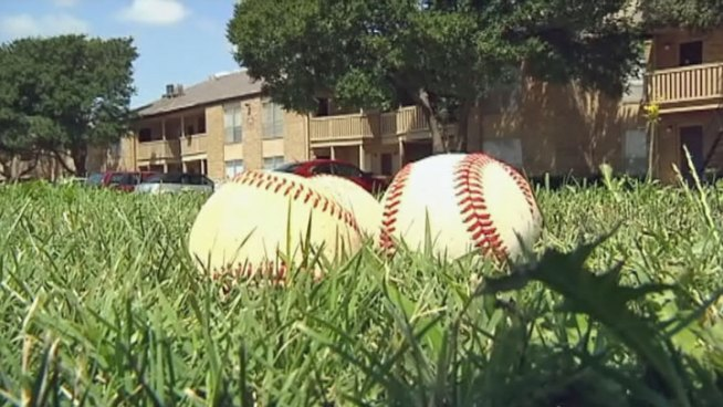 Residents who live across from the Evans Baseball Field in Mesquite say they are tired of foul balls breaking home and car windows.
