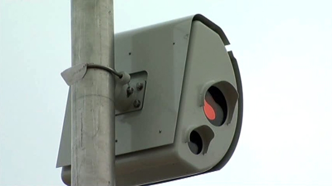 After a nearly two-year hiatus, red-light cameras are going up at two busy <a title=
