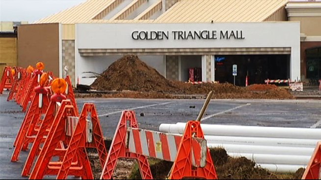 Golden Triangle Mall in Denton is getting a long overdue face-lift but it means shoppers have to endure a little mess.