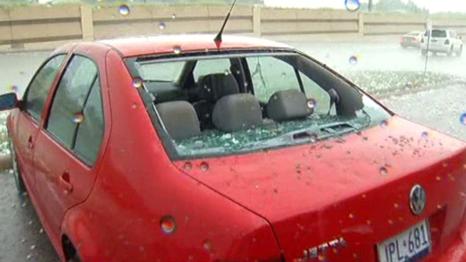 Large hail fell across Dallas County, damaging cars and skylights, including some skylights at NorthPark Center. Parts of Northeast Dallas were some of the areas hardest hit.