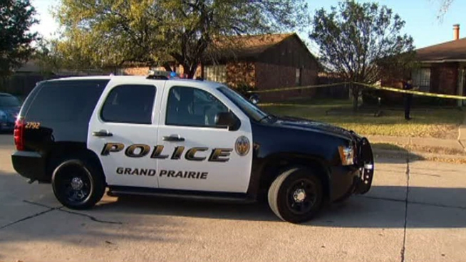 A burglary suspect shot by a homeowner in Grand Prairie lives on the same street a few blocks away from the home he is accused of breaking into.