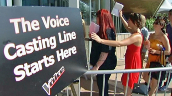 Close to 4,500 people auditioned for NBC's The Voice in Irving on Saturday.