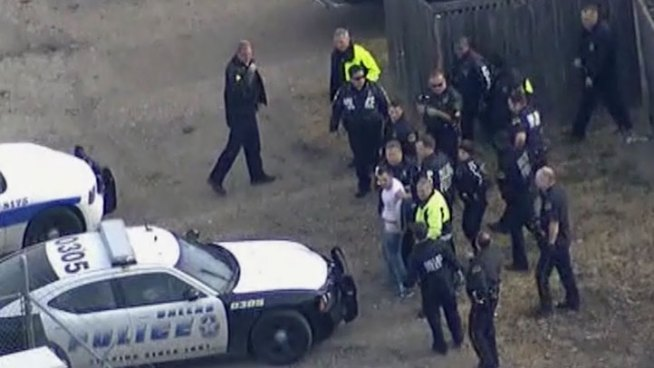 Dallas police took a man into custody after a bizarre kidnapped and robbery attempt that included women's clothing.