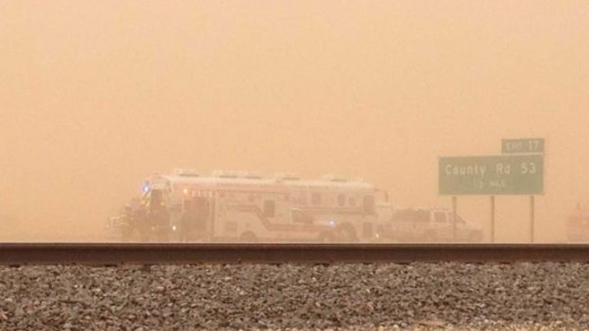 Dust Storm Crash Kills 1, Closes I-27