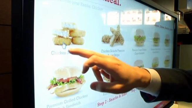 A Richardson McDonald's is the first in North Texas with a touchscreen kiosk that helps diners make healthier choices.