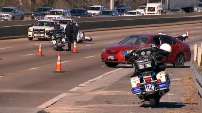 Two Dallas police motorcycle officers are recovering from injuries sustained in a crash on Interstate 35.