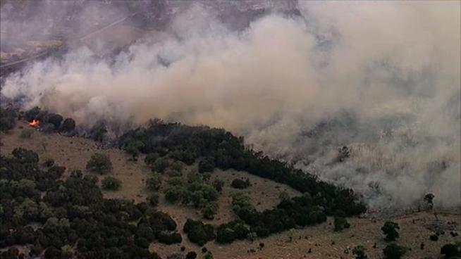 Forest Service says two fires near Possum Kingdom Lake that have joined have burned more than 45,000 acres.