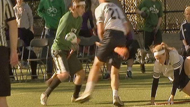 North Texas School Playing Quidditch