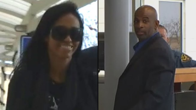 Pilar and Deion Sanders were in court Wednesday as she pushed to have their prenuptial agreement declared invalid and their 13-year marriage annulled.