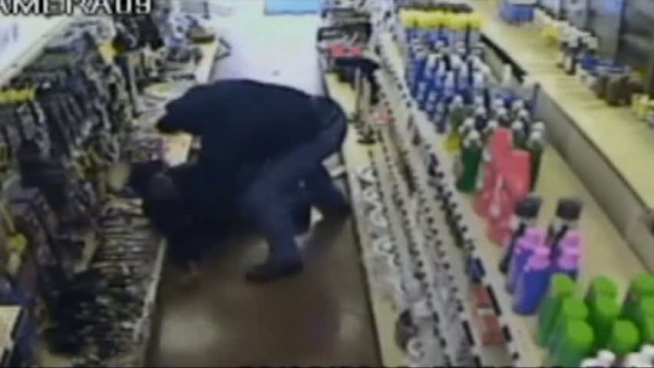 Dallas police have released graphic video of a store clerk being beaten with multiple hammers in hopes that someone may recognize the robber.