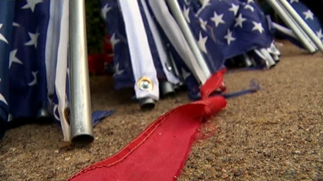 Vandals tore and cut up more than 50 American flags put up by Boy Scouts and Girl Scouts in Richardson.