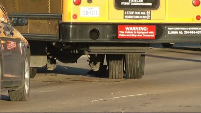 School Bus, Car Collide in Dallas