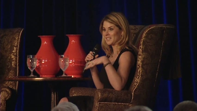 Jenna Bush Hager and Barbara Bush talk at Thursday's Nexus luncheon.