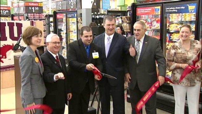 Walmart opened a brand new kind store in Dallas Wednesday morning -- a double-decker Walmart/Sam's Club.