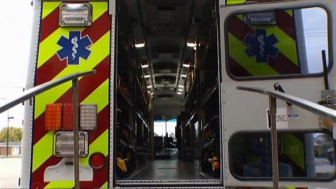 Frisco shows off its new ambulance bus.