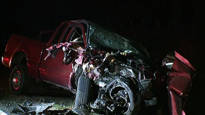 Four vehicles crashed Sunday night in Kaufman County killing one man and sending 11 people to the hospital, including at least two children.