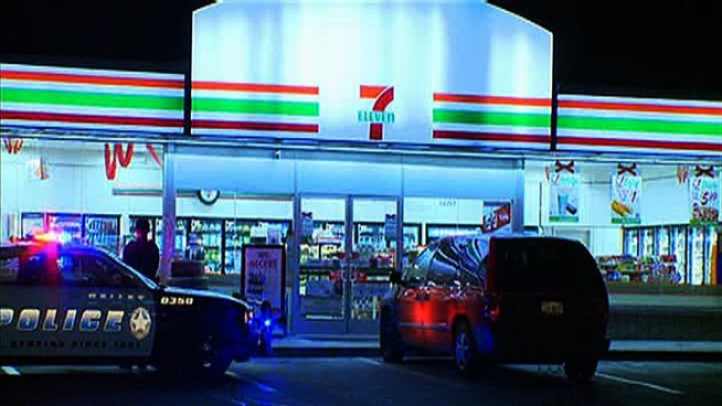 The search is on for three men who robbed a Dallas 7-Eleven at gunpoint early Monday.