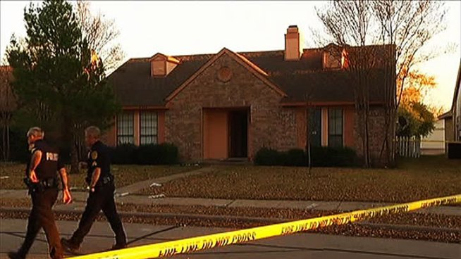 A man and woman who burst into a Rowlett home Sunday afternoon were shot by someone inside the house who then fled before officers arrived, police said.