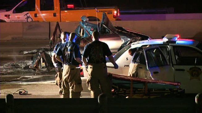 Two people died, three were injured after a seven car wreck Tuesday morning. The crash happened at southbound I-35E and Illinois Avenue at about 5 a.m. and shut down lanes during early morning rush hour.