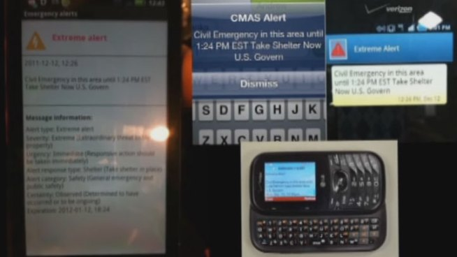 A new system that automatically sends cellphone users messages about storms, terror alerts and other threats does not reach many North Texas cellphones.