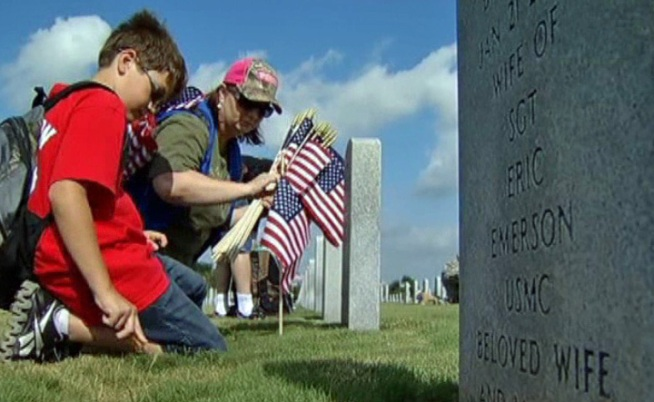 27,000 flags are planted at DFW National Cemetery to honor fallen United States Veterans.