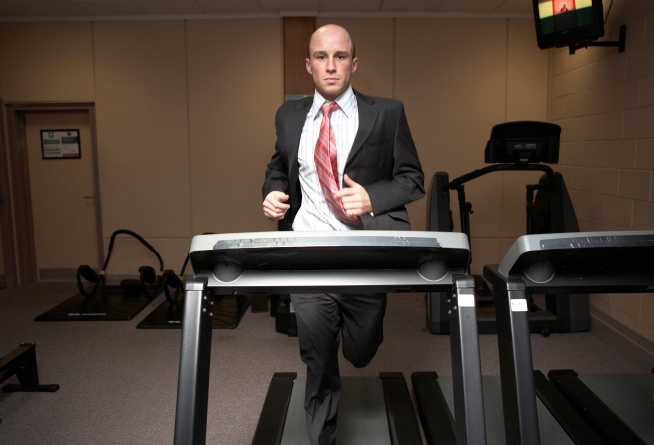 Walk Station Helps Employees Stay Fit