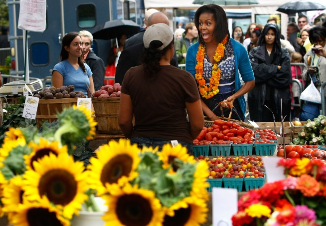 A farmers market controversial for closing a downtown street brings locally grown fresh food to the city.