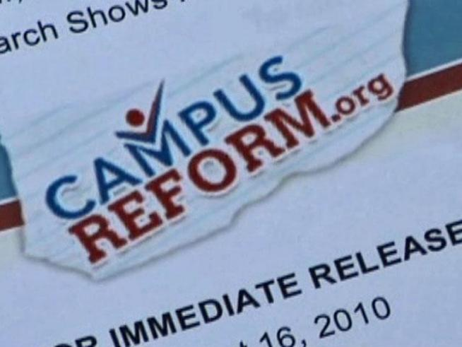 CampusReform.org, a conservative watchdog group, claims