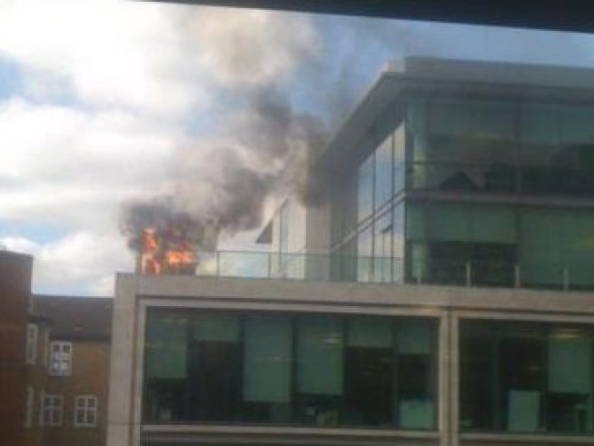 London Googlers Set Fire to Office