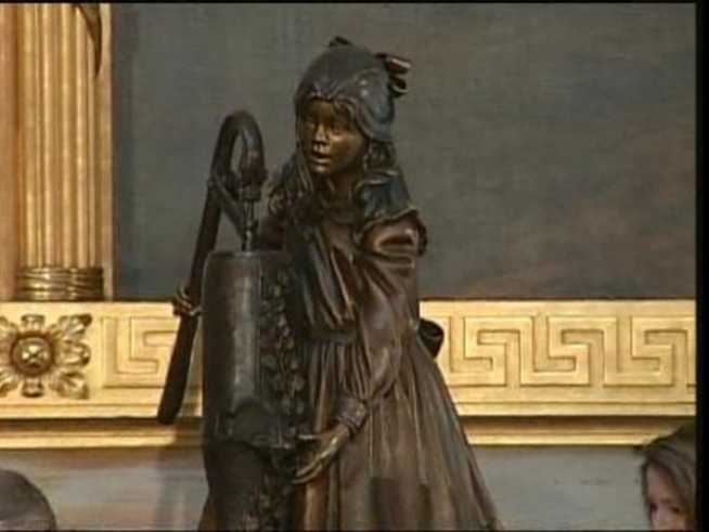 A Helen Keller statue was unveiled Wednesday at the Capitol.