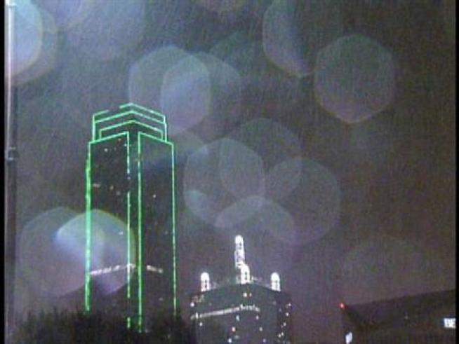 Heavy rain and lightning moved across North Texas