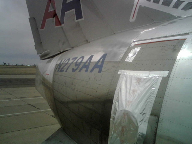 Photos Show AA Plane at Center of Safety Investigation