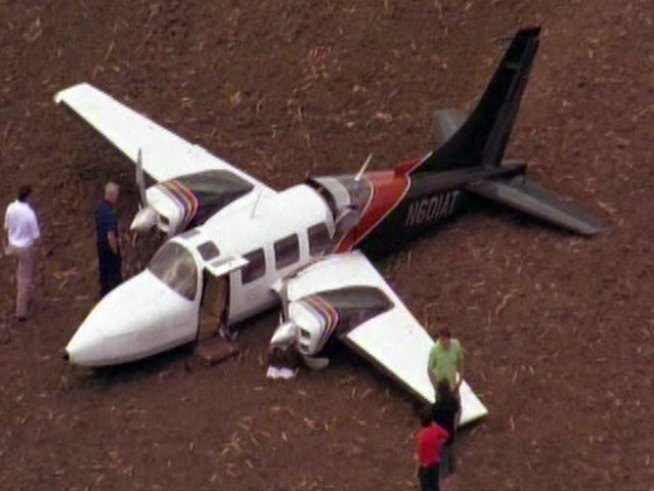 Plane Crashes in Johnson County