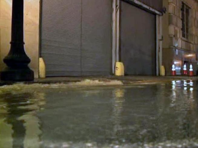 Mopping Up Flooded Dallas Co. Records Building