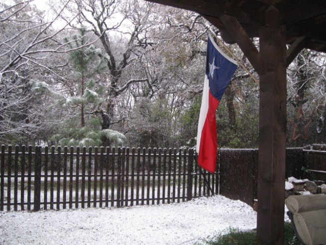 Denton Gets Wintry Surprise