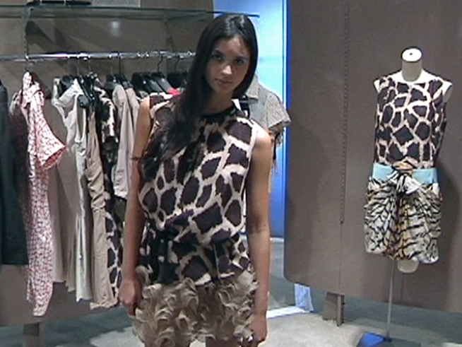 Python, leopard, or giraffe - anything goes. Animal skins and prints that were huge this Fall are still relevant for Spring 2011.