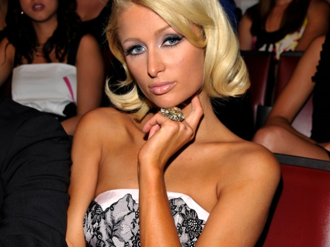 Paris Hilton Gives Boyfriend a Halloween Fright