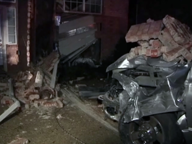 Police Say Driver Blacked Out, Drove Through Home