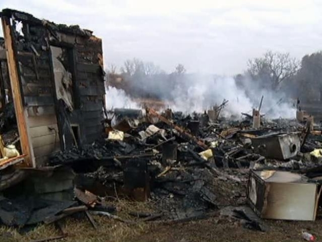 A Wise County family loses everything in a fire three days before <a title=