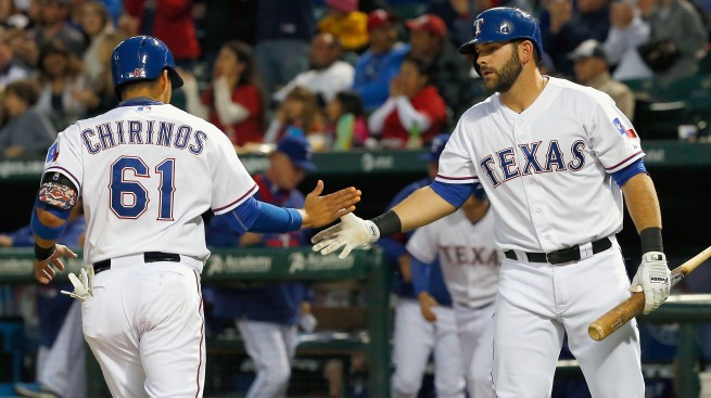 Chirinos' Career-High 5 RBIs Lead Rangers Over Angels 8-2