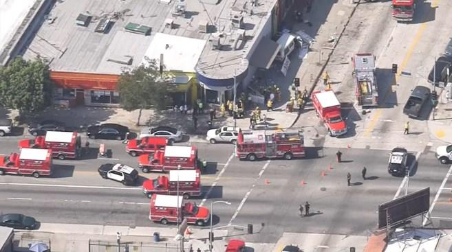Driver Arrested After Van Strikes Crowd in LA; 9 Injured