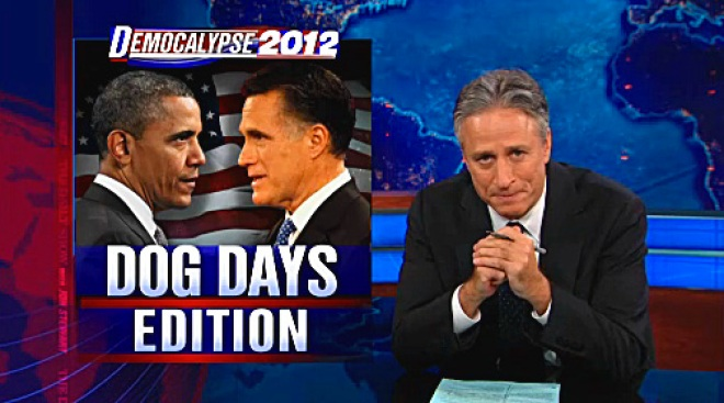 Stewart Mocks Romney's Neologism Attempt