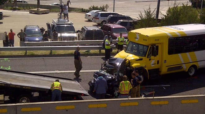 DART Bus Involved in 5-Vehicle Chain-Reaction Crash