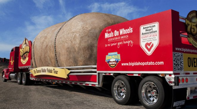 "The Great Big Idaho Potato Truck to Make Wing ""Stop"""