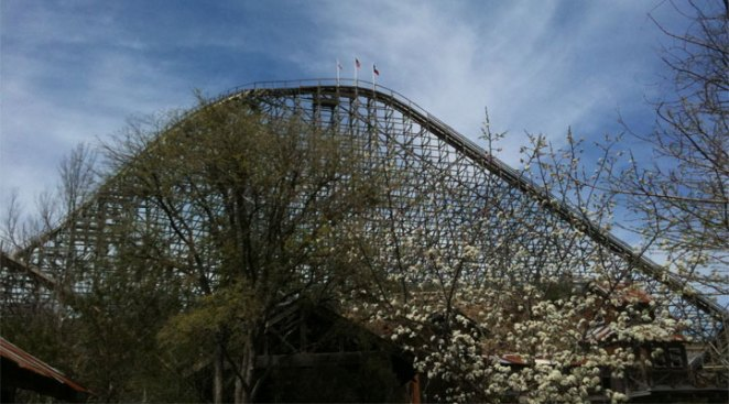 Six Flags Fiesta Texas Closing Wooden Coaster