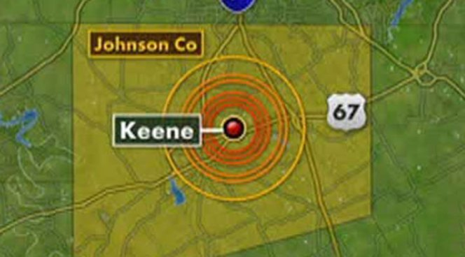 The U.S. Geological Survey reports another minor earthquake shook Johnson County Friday morning.